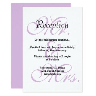 M. et Mme Purple - invitation de réception