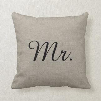M. et Mme rustiques Cute Wedding Keepsake Coussin