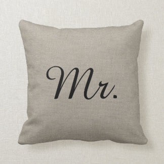 M. et Mme rustiques Cute Wedding Keepsake Coussins Carrés