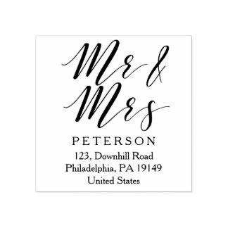 M. et Mme timbre pour mariage élégant personnalisé