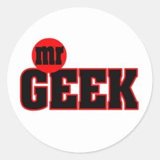 M. Geek Sticker Sticker Rond