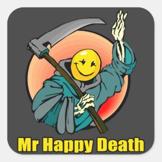 M. Happy Death Autocollants Carrés