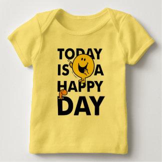 M. Happy   est aujourd'hui un jour heureux T-shirt Pour Bébé