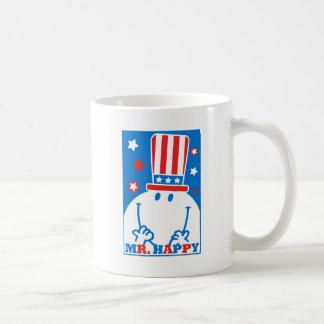M. Happy With Patriotic Hat Mug