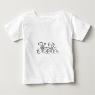 M. monogramme de mariage t-shirt