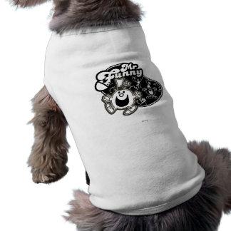 M. noir et blanc Funny T-shirt Pour Chien
