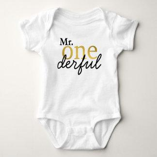 M. Onederful Black et chemise de bébé d'or Body