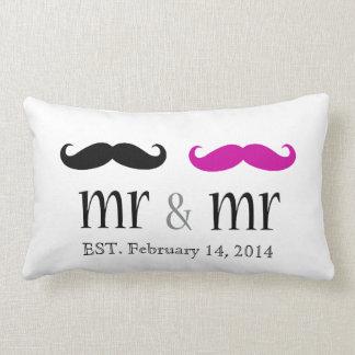 M. personnalisé et M. Mustache Pillow Coussins Carrés