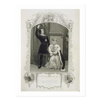 M. Phelps comme Hamlet et Mlle Glyn comme Reine Carte Postale