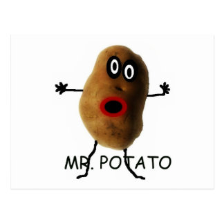 M. Potato Cartoon Carte Postale