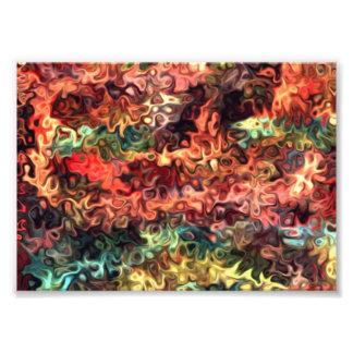 M Relaxed Swrils par morceau d'art moderne 5,55 Impressions Photographiques