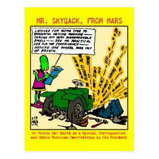 M. Skygack observe une automobile en panne Carte Postale