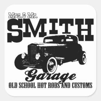 M. Smith Hot-Rod Garage de Mrs.& Sticker Carré