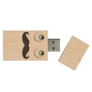 M. stache clé USB 2.0 en bois