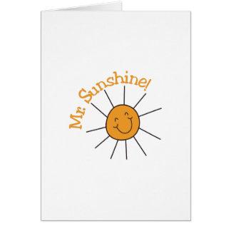 M. Sunshine Carte De Vœux