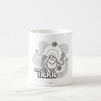 M. Tickle | noir et remous et étoiles de blanc Mug