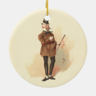 M. Wilkins Micawber David Copperfield Ornement Rond En Céramique