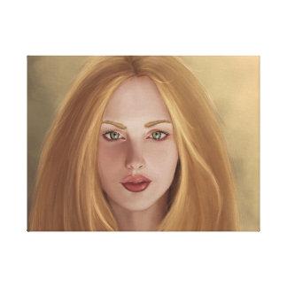 Ma belle peinture russe de fille d'Alex. Toiles Tendues