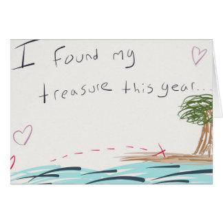 Ma carte de Saint-Valentin de trésor