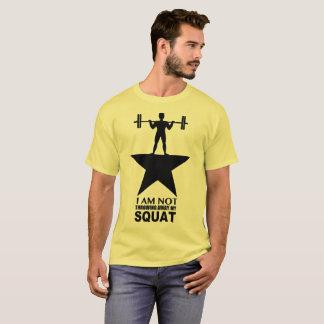 Ma copie foncée de pièce en t masculine accroupie t-shirt