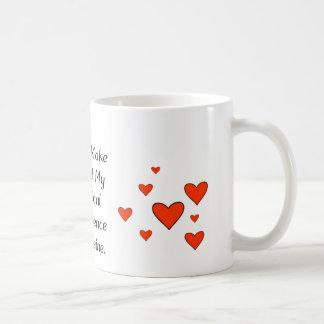 Ma dépendance chimique à la caféine mug blanc
