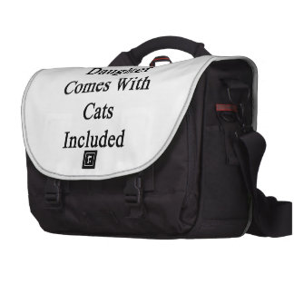 Ma fille vient avec des chats inclus sacoche pour ordinateurs portables