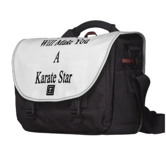 Ma fille vous fera une étoile de karaté sacs ordinateurs portables