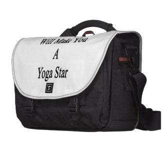 Ma fille vous fera une étoile de yoga sacs ordinateur portable