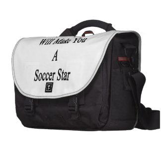 Ma fille vous fera une étoile du football sacoche ordinateurs portables