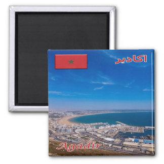 MA - Le Maroc - Agadir Magnet Carré