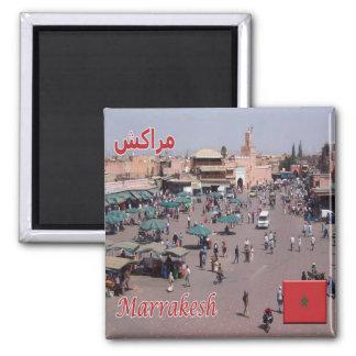 MA - Le Maroc - Marrakech Magnet Carré