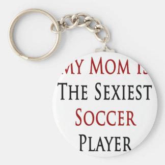 Ma maman est le footballeur le plus sexy porte-clé rond