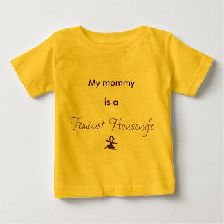 Ma maman est une femme au foyer féministe t-shirt pour bébé