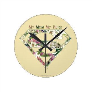 Ma maman mon héros horloge ronde