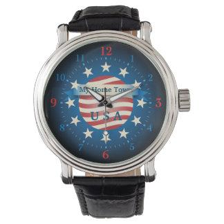 Ma montre des Etats-Unis de ville natale