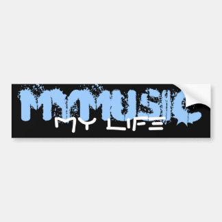Ma musique ma vie autocollant de voiture