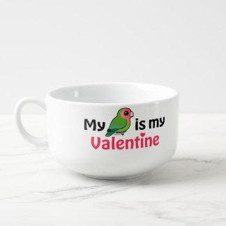 Ma perruche est mon Valentine Mug À Potage