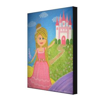 Ma princesse douce - les filles du château 16x20 impressions sur toile