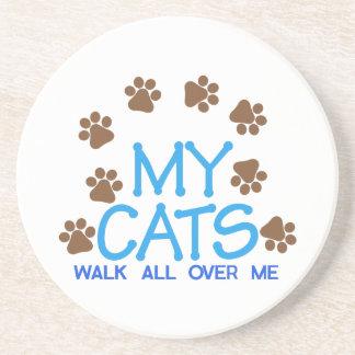 Ma promenade de chats dessous de verre