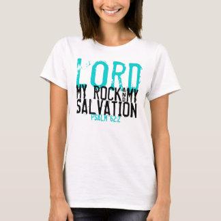 Ma roche et mon T-shirt de vers de bible de salut