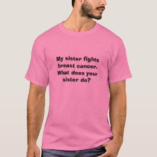 Ma soeur combat le cancer du sein.  Ce qui fait le T-shirt