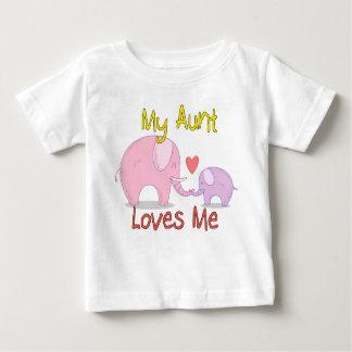 Ma tante Loves Me Elephant T-shirt Pour Bébé