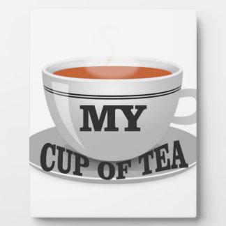 ma tasse de thé ouais plaque photo