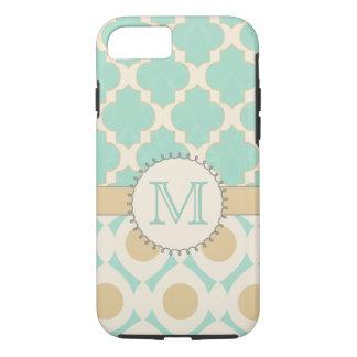 Mac de Mally de monogramme de Quatrefoil Coque iPhone 7