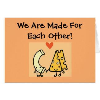 Mac et fromage - carte mignonne de jour de