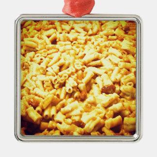 Mac et fromage végétalien… ornement carré argenté