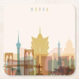 Macao, horizon de ville de la Chine | Dessous-de-verre Carré En Papier