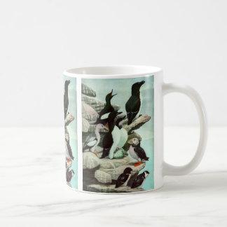 Macareux vintages, oiseau aquatique, animaux mug