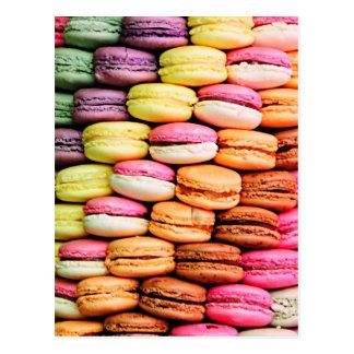 Macaron français carte postale