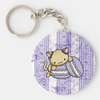 Macaron Kitty Porte-clé Rond